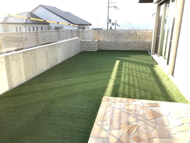 京都府京都市 お庭に人工芝施工しました