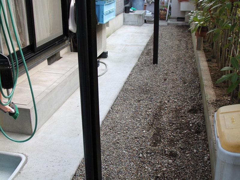 奈良県生駒市S様邸 お庭に人工芝施工しました