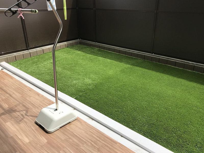 大阪府大阪市Y様 マンション専用庭の人工芝施工