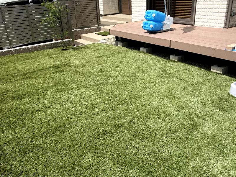 兵庫県川西市N様邸 お庭に人工芝施工しました