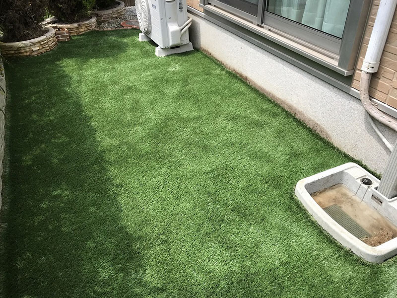 京都府京都市F様邸 お庭に人工芝施工しました