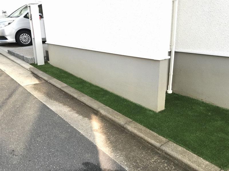 大阪府枚方市J様邸 玄関周りの人工芝施工