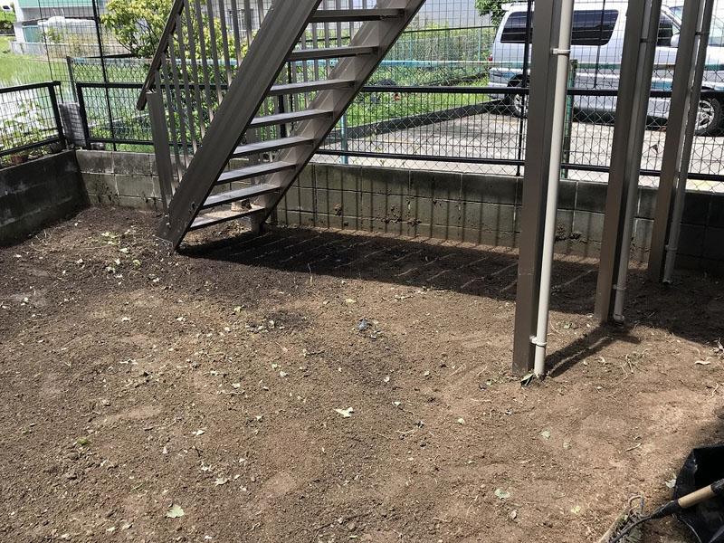 大阪府寝屋川市Y様邸 お庭の人工芝施工