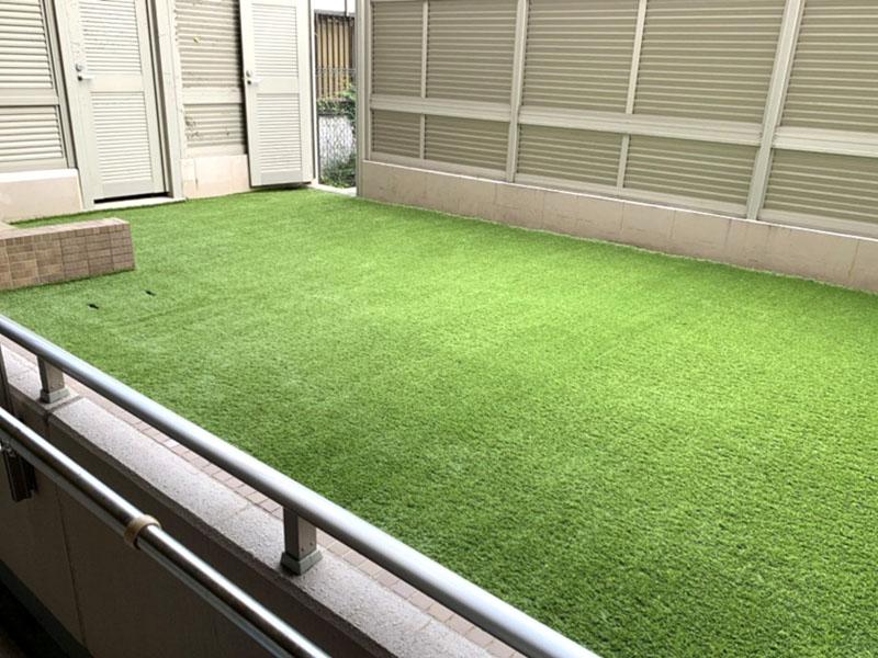 兵庫県芦屋市M様邸 マンション専用庭の人工芝施工