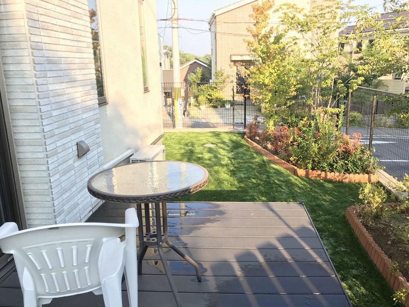 兵庫県宝塚市M様邸 お庭に人工芝施工しました