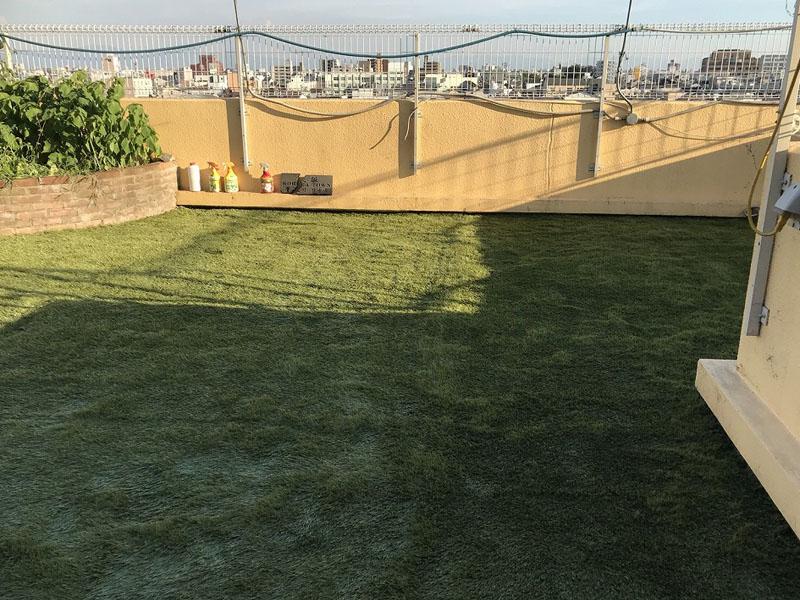大阪府大阪市Y様邸 屋上に人工芝施工しました
