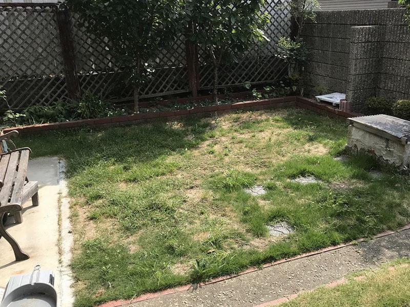 大阪府大阪市東N様邸 お庭の人工芝施工