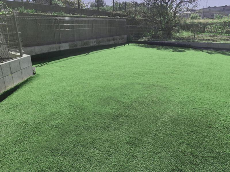 大阪府和泉市K様邸 お庭に人工芝施工しました