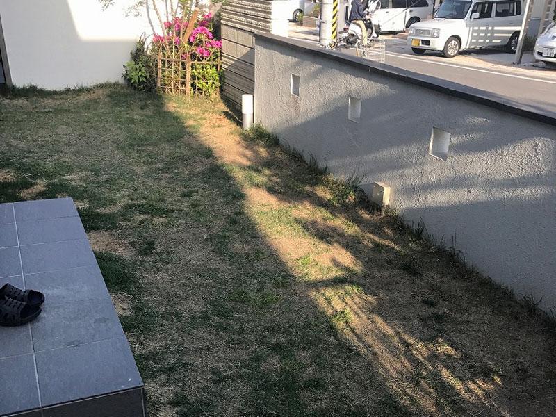 大阪府富田林市M様邸 お庭の人工芝施工