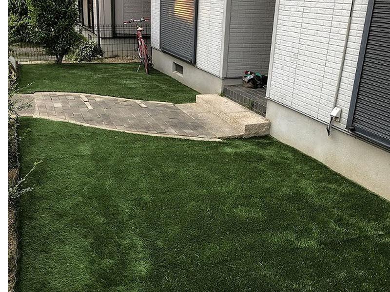 奈良県天理市U様邸 お庭に人工芝施工しました