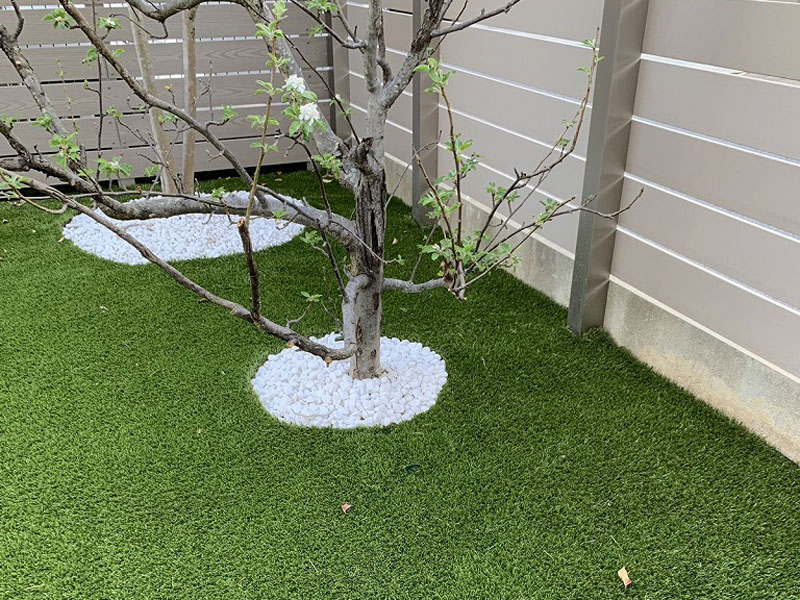 京都府木津川市K様邸 お庭と周辺の人工芝施工