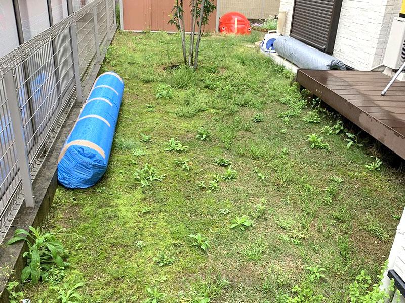 奈良県生駒市S様邸 お庭の人工芝施工