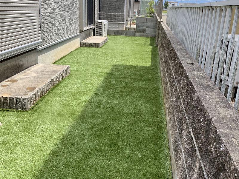 奈良県生駒郡N様邸 お庭に人工芝施工しました