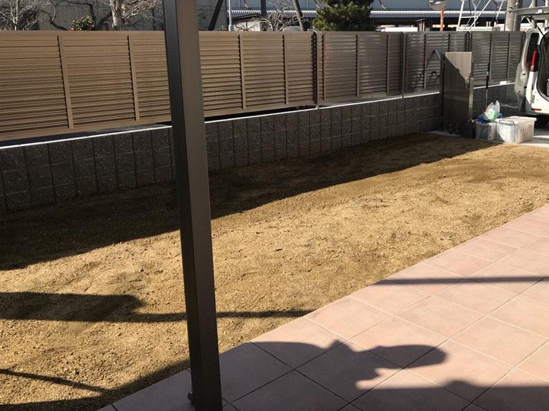 奈良県大和郡山市K様邸 お庭の人工芝施工