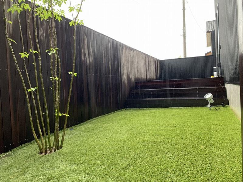 奈良県葛城市U様邸 お庭の人工芝施工