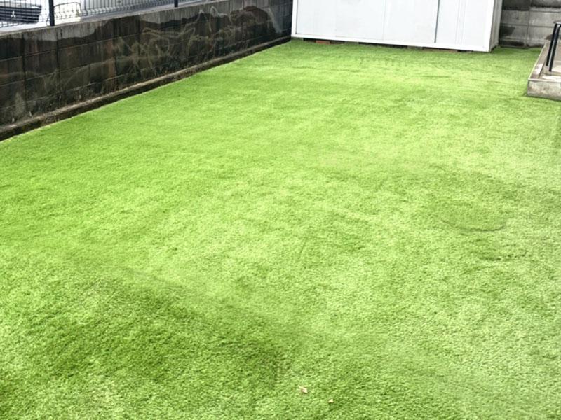 大阪府茨木市S様邸 お庭の人工芝施工
