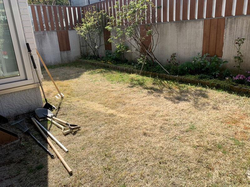京都府京田辺市A様邸 お庭の人工芝施工