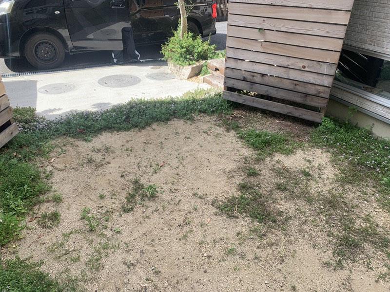 大阪府八尾市K様邸 お庭に人工芝施工しました
