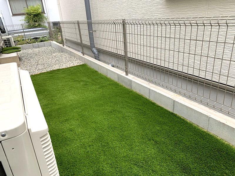 大阪府高槻市M様邸 お庭に人工芝施工しました