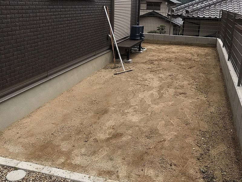 兵庫県川西市M様邸 お庭の人工芝施工