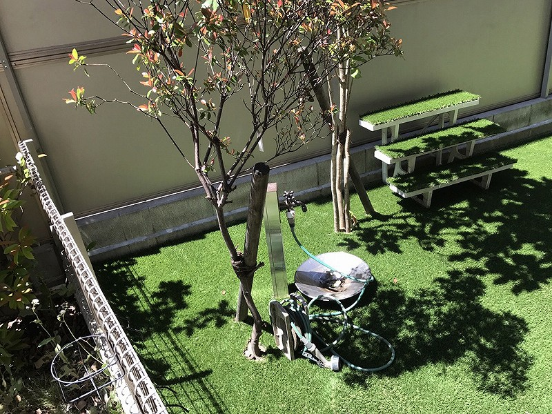 大阪府豊中市S様邸 お庭に人工芝施工しました