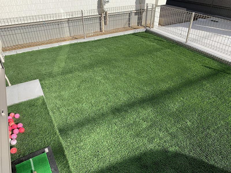 奈良県香芝市N様邸 お庭に人工芝施工しました