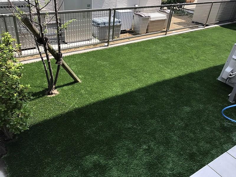 兵庫県神戸市O様邸 お庭に人工芝施工しました
