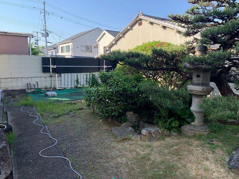 京都府八幡市T様邸 お庭のゴルフ人工芝施工