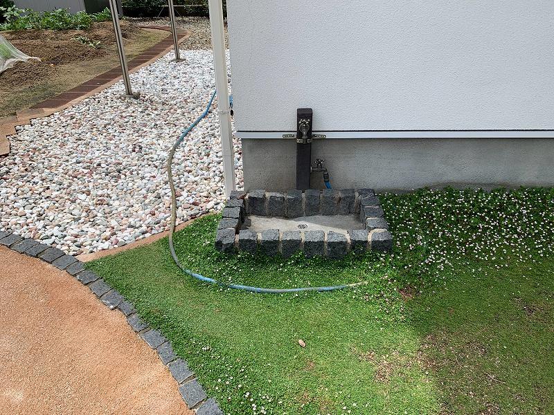 兵庫県加東市M様邸 お庭に人工芝施工しました