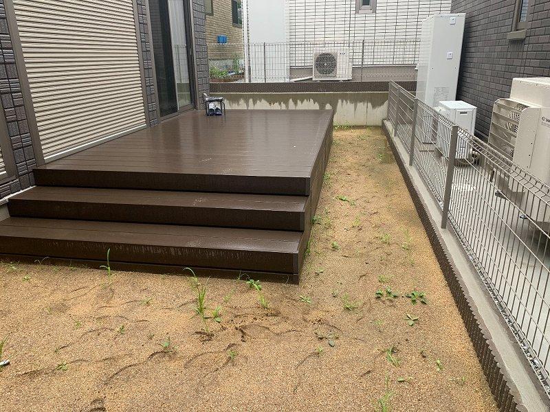 奈良県奈良市M様邸 お庭の人工芝施工