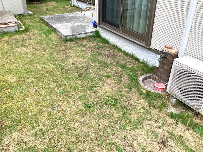 兵庫県猪名川市T様邸 お庭の人工芝施工