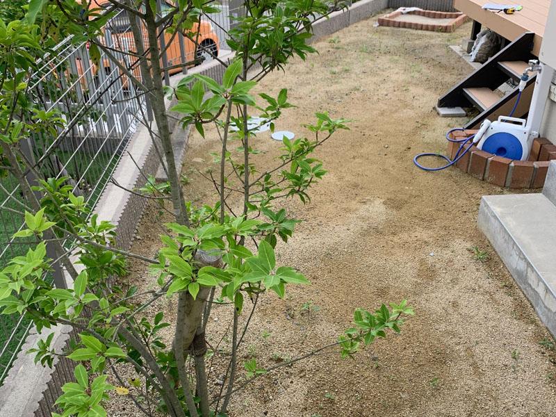 兵庫県西宮市U様邸 お庭に人工芝施工しました