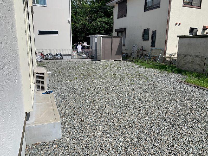 兵庫県西宮市I様邸 お庭の人工芝施工