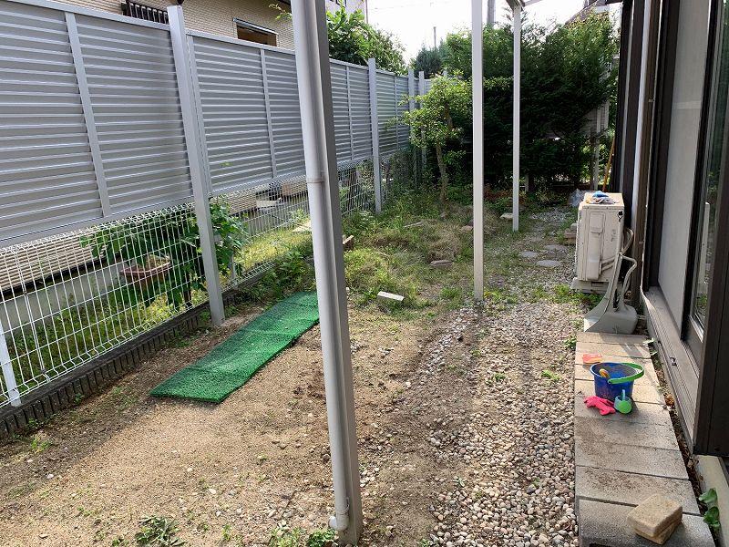大阪府高槻市N様邸 お庭に人工芝施工しました