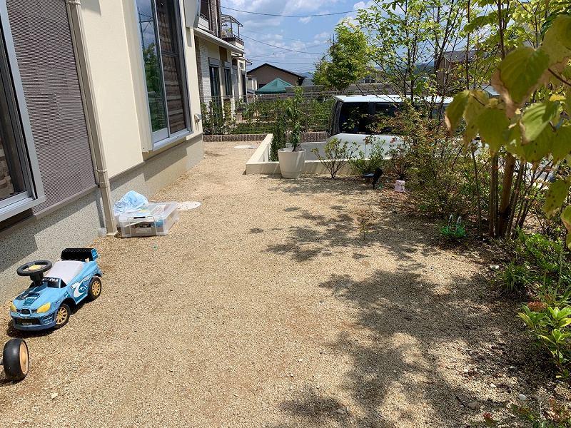 奈良県奈良市T様邸 お庭の人工芝施工