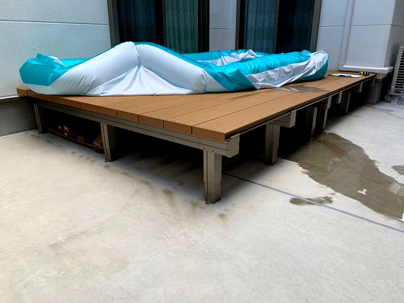 大阪府大阪市O様邸 お庭と玄関の人工芝施工