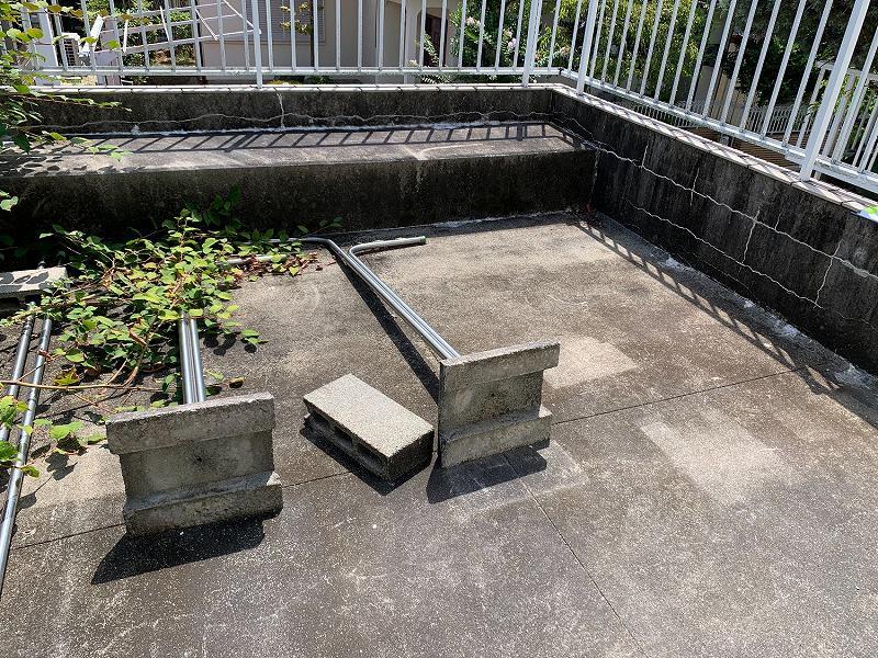 兵庫県宝塚市I様邸 お庭に人工芝施工しました
