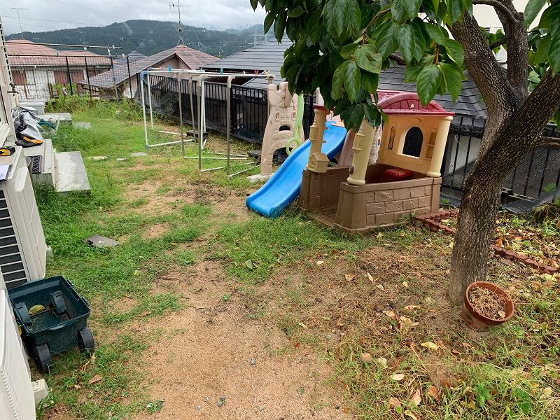 兵庫県川西市T様邸 お庭に人工芝施工しました
