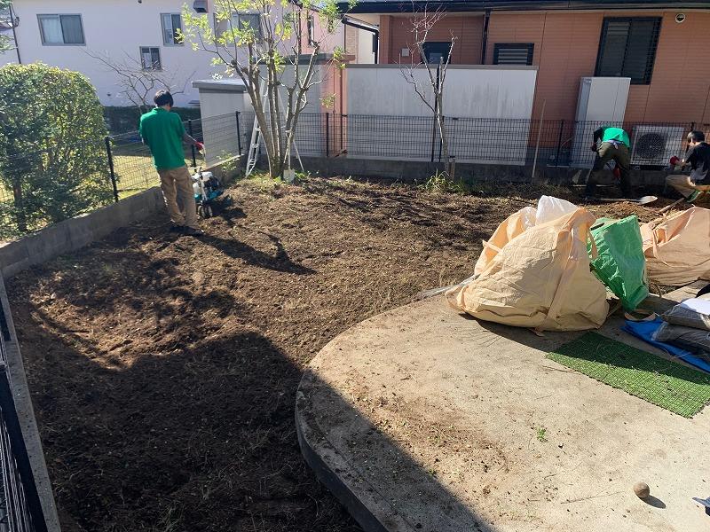 兵庫県神戸市S様邸 お庭の人工芝施工