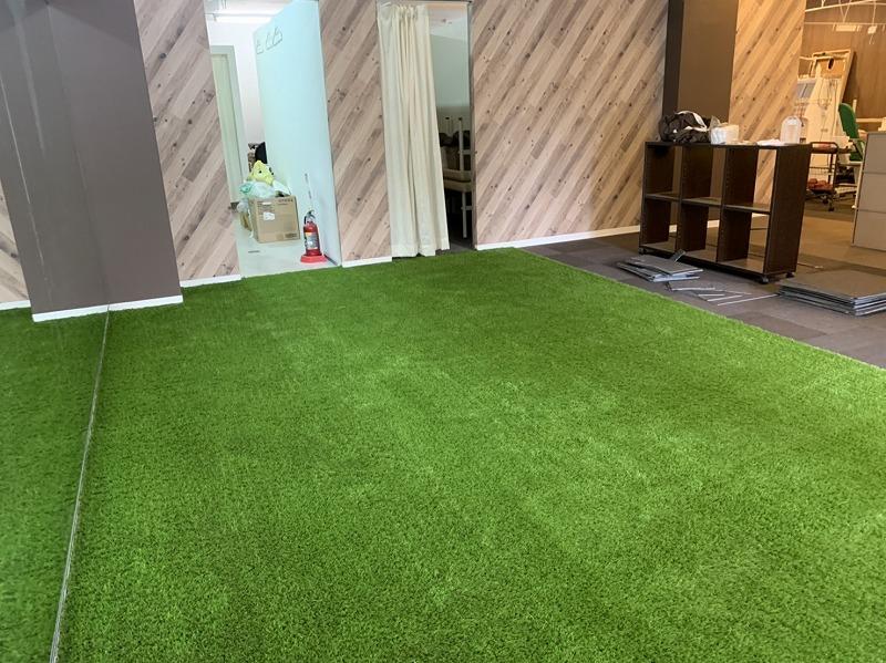 京都府京都市スポーツジム様 FIFA認定人工芝施工しました