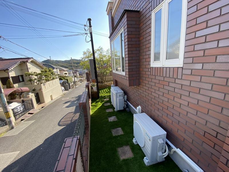 兵庫県神戸市M様邸 お庭の人工芝施工