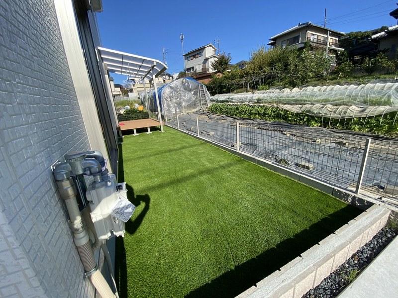 奈良県奈良市S様邸 お庭に人工芝施工しました