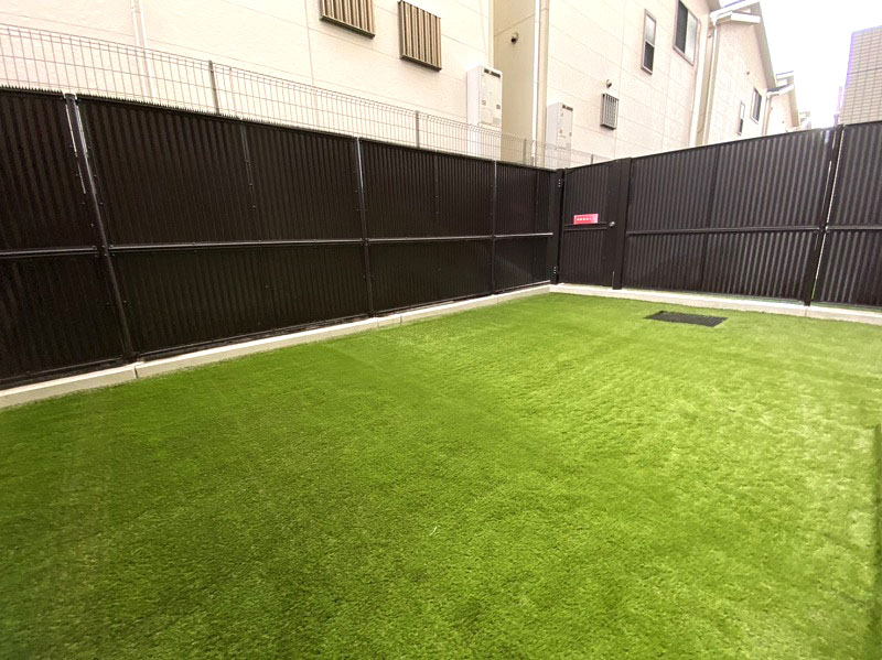 兵庫県西宮市H様邸 マンション専用庭の人工芝施工