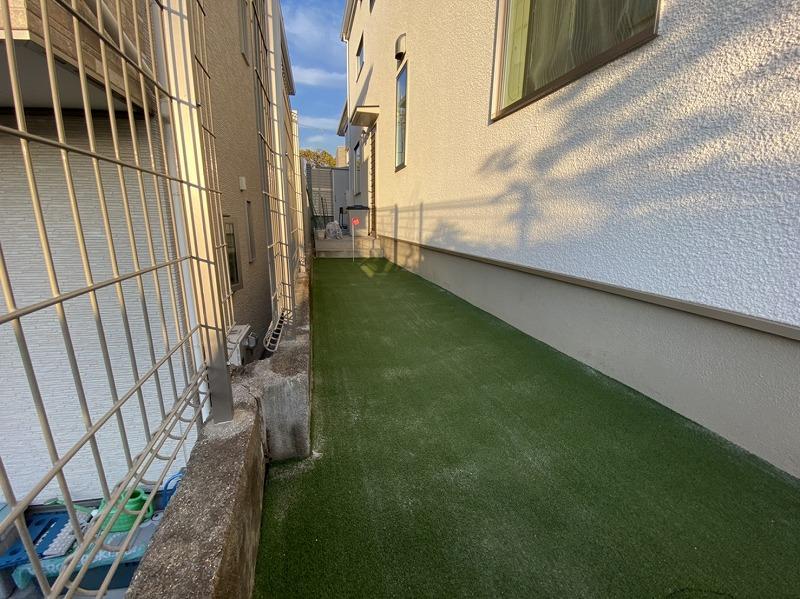 大阪府豊中市F様邸 ご自宅周辺のゴルフ人工芝施工