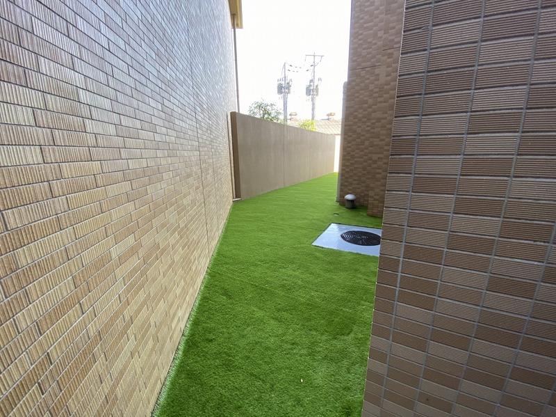 兵庫県尼崎市A様邸 マンション専用庭の人工芝施工