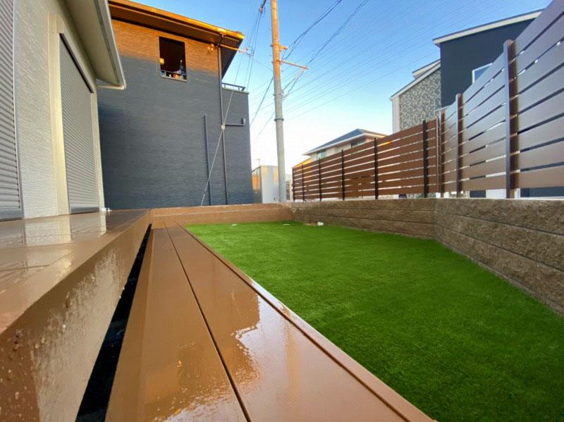兵庫県加古川市K様邸 お庭に人工芝施工しました