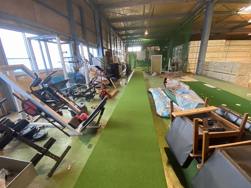 兵庫県神戸市法人様 追加 ゴルフ人工芝施工