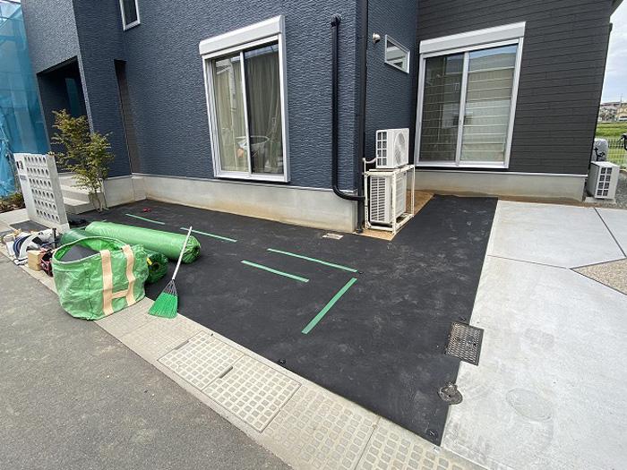 兵庫県明石市M様邸 お庭に人工芝施工しました