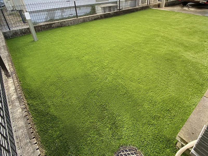 滋賀県栗東市T様邸 お庭に人工芝施工しました
