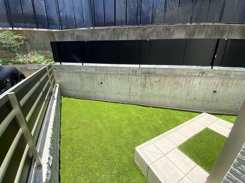 大阪府大阪市K様邸 お庭に人工芝施工しました